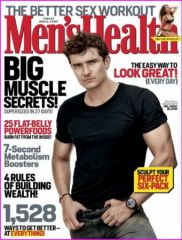 Orlando Bloom en couverture de Men's Health