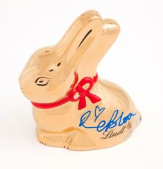 Lapin Or de Lindt signé par Orlando Bloom